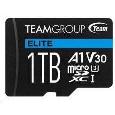 TEAM MicroSDXC karta 1TB ELITE A1 V30 UHS-I U3 (90/45 MB/s) + SD adapter