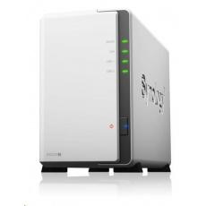 BAZAR-Synology DS220j DiskStation (4C/RealtekRTD1296/1,4GHz/512MBRAM/2xSATA/2xUSB3.0/1xGbE)-poškozená krabice