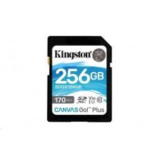 Kingston 256GB SecureDigital Canvas Go! Plus (SDXC) Card, 170R 90W Class 10 UHS-I U3 V30