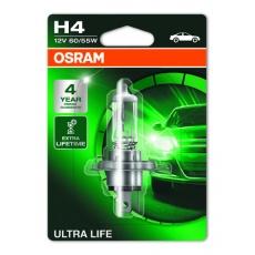 OSRAM autožárovka H4 ULTRA LIFE 12V 60/55W P43T (Blistr 1ks)