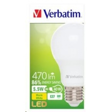 VERBATIM LED žárovka,LED Classic A E27 5,5W 2700K WW 470LM