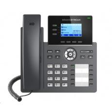 Grandstream GRP2604P [VoIP telefon - 6x SIP účet, HD audio, 10 předvoleb, 2x RJ45 10/100/1000 Mbps, PoE]