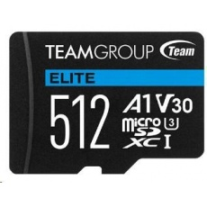 TEAM MicroSDXC karta 512GB ELITE A1 V30 UHS-I U3 (90/45 MB/s) + SD adapter