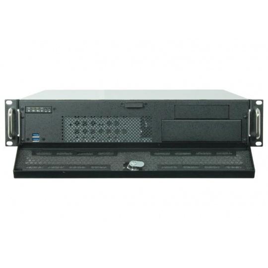 CHIEFTEC skříň Rackmount 2U UNC-210, mATX, half height PCI slots,  Black, bez zdroje