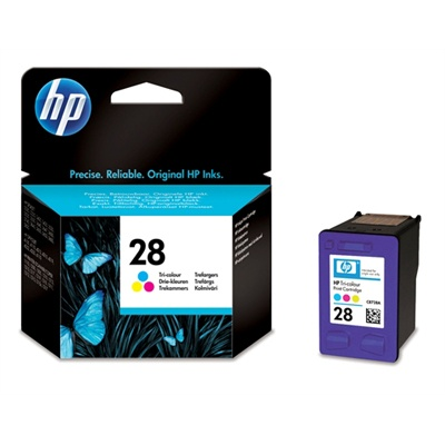 HP 28 Tri-color Ink Cart, 8 ml, C8728AE