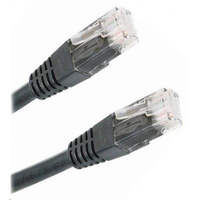 Patch kabel Cat5E, UTP - 3m, černý
