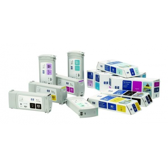 HP 83 Light Cyan UV DJ Ink Cart, 680 ml, C4944A