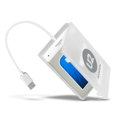 "AXAGON ADSA-1S, USB2.0 - SATA HDD adaptér vč. 2.5"" pouzdra"