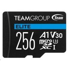 TEAM MicroSDXC karta 256GB ELITE A1 V30 UHS-I U3 (90/45 MB/s) + SD adapter