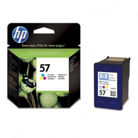 HP 57 Tri-color Ink Cart, 17 ml, C6657AE