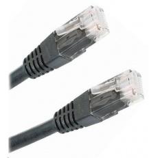 Patch kabel Cat5E, UTP - 2m, černý