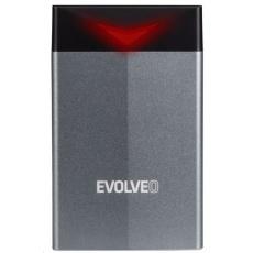 """EVOLVEO 2.5"""" Tiny G2, 10Gb/s, externí rámeček na HDD, USB A 3.1 + redukce USB A/USB C"""